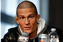 CHICAGO, IL - JANUARY 24:  Erik Koch interacts with media during the UFC on FOX press conference on January 24, 2013 at the United Center in Chicago, Illinois. (Photo by Josh Hedges/Zuffa LLC/Zuffa LLC via Getty Images)