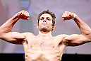 CHICAGO, IL - JANUARY 25:  David Mitchell weighs in during the UFC on FOX weigh-in on January 25, 2013 at the Chicago Theatre in Chicago, Illinois. (Photo by Josh Hedges/Zuffa LLC/Zuffa LLC via Getty Images)