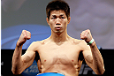 CHICAGO, IL - JANUARY 25:  Hatsu Hioki weighs in during the UFC on FOX weigh-in on January 25, 2013 at the Chicago Theatre in Chicago, Illinois. (Photo by Josh Hedges/Zuffa LLC/Zuffa LLC via Getty Images)