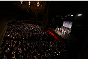 CHICAGO, IL - JANUARY 25:  A general view of the theatre as Anthony Pettis weighs in during the UFC on FOX weigh-in on January 25, 2013 at the Chicago Theatre in Chicago, Illinois. (Photo by Josh Hedges/Zuffa LLC/Zuffa LLC via Getty Images)