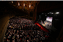 CHICAGO, IL - JANUARY 25:  A general view of the theatre as Anthony Pettis and Donald &quot;Cowboy&quot; Cerrone face off during the UFC on FOX weigh-in on January 25, 2013 at the Chicago Theatre in Chicago, Illinois. (Photo by Josh Hedges/Zuffa LLC/Zuffa LLC via Getty Images)