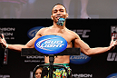 CHICAGO, IL - JANUARY 25:  John Dodson weighs in during the UFC on FOX weigh-in on January 25, 2013 at the Chicago Theatre in Chicago, Illinois. (Photo by Josh Hedges/Zuffa LLC/Zuffa LLC via Getty Images)