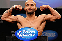 CHICAGO, IL - JANUARY 25:  Demetrious Johnson weighs in during the UFC on FOX weigh-in on January 25, 2013 at the Chicago Theatre in Chicago, Illinois. (Photo by Josh Hedges/Zuffa LLC/Zuffa LLC via Getty Images)