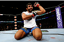 CHICAGO, IL - JANUARY 26:  Rafael Natal celebrates after defeating Sean Spencer during their Middleweight Bout part of UFC on FOX at United Center on January 26, 2013 in Chicago, Illinois.  (Photo by Al Bello/Zuffa LLC/Zuffa LLC Via Getty Images)