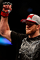 CHICAGO, IL - JANUARY 26:  Ryan Bader celebrates defeating Vladimir Matyushenko during their Light Heavyweight Bout part of UFC on FOX at United Center on January 26, 2013 in Chicago, Illinois.  (Photo by Josh Hedges/Zuffa LLC/Zuffa LLC Via Getty Images)