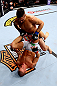 CHICAGO, IL - JANUARY 26:  Ricardo Lamas (Top) punches Erik Koch (Bottom) during their Featherweight Bout part of UFC on FOX at United Center on January 26, 2013 in Chicago, Illinois.  (Photo by Al Bello/Zuffa LLC/Zuffa LLC Via Getty Images)
