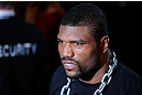 CHICAGO, IL - JANUARY 26:  Rampage Jackson walks to the octagon prior to his Light Heavyweight Bout against Glover Teixeira part of UFC on FOX at United Center on January 26, 2013 in Chicago, Illinois.  (Photo by Josh Hedges/Zuffa LLC/Zuffa LLC Via Getty Images)