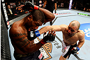 CHICAGO, IL - JANUARY 26:  Glover Teixeira (R) punches Rampage Jackson (L) during their Light Heavyweight Bout part of UFC on FOX at United Center on January 26, 2013 in Chicago, Illinois.  (Photo by Al Bello/Zuffa LLC/Zuffa LLC Via Getty Images)