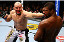 CHICAGO, IL - JANUARY 26:  Glover Teixeira (L) punches Rampage Jackson (R) during their Light Heavyweight Bout part of UFC on FOX at United Center on January 26, 2013 in Chicago, Illinois.  (Photo by Al Bello/Zuffa LLC/Zuffa LLC Via Getty Images)