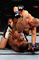 CHICAGO, IL - JANUARY 26:  Glover Teixeira (Top) fights Rampage Jackson (Bottom) during their Light Heavyweight Bout part of UFC on FOX at United Center on January 26, 2013 in Chicago, Illinois.  (Photo by Al Bello/Zuffa LLC/Zuffa LLC Via Getty Images)