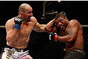 CHICAGO, IL - JANUARY 26:  Glover Teixeira (L) punches Rampage Jackson (R) during their Light Heavyweight Bout part of UFC on FOX at United Center on January 26, 2013 in Chicago, Illinois.  (Photo by Josh Hedges/Zuffa LLC/Zuffa LLC Via Getty Images)