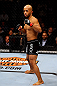 CHICAGO, IL - JANUARY 26:  Demetrious Johnson looks on against John Dodson during thier Flyweight Championship Bout part of UFC on FOX at United Center on January 26, 2013 in Chicago, Illinois.  (Photo by Al Bello/Zuffa LLC/Zuffa LLC Via Getty Images)
