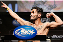 LAS VEGAS, NV - FEBRUARY 01:  Ian McCall weighs in during the UFC 156 weigh-in on February 1, 2013 at Mandalay Bay Events Center in Las Vegas, Nevada.  (Photo by Josh Hedges/Zuffa LLC/Zuffa LLC via Getty Images)