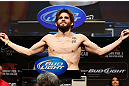 LAS VEGAS, NV - FEBRUARY 01:  Jon Fitch weighs in during the UFC 156 weigh-in on February 1, 2013 at Mandalay Bay Events Center in Las Vegas, Nevada.  (Photo by Josh Hedges/Zuffa LLC/Zuffa LLC via Getty Images)