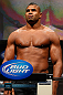 LAS VEGAS, NV - FEBRUARY 01:  Alistair Overeem weighs in during the UFC 156 weigh-in on February 1, 2013 at Mandalay Bay Events Center in Las Vegas, Nevada.  (Photo by Josh Hedges/Zuffa LLC/Zuffa LLC via Getty Images)
