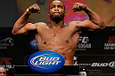 LAS VEGAS, NV - FEBRUARY 01:  Rashad Evans weighs in during the UFC 156 weigh-in on February 1, 2013 at Mandalay Bay Events Center in Las Vegas, Nevada.  (Photo by Josh Hedges/Zuffa LLC/Zuffa LLC via Getty Images)