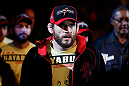 LAS VEGAS, NV - FEBRUARY 02:  Jon Fitch walks to the Octagon to face Demian Maia before their welterweight fight at UFC 156 on February 2, 2013 at the Mandalay Bay Events Center in Las Vegas, Nevada.  (Photo by Josh Hedges/Zuffa LLC/Zuffa LLC via Getty Images) *** Local Caption *** Jon Fitch; Demian Maia