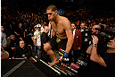 LAS VEGAS, NV - FEBRUARY 02:  Antonio Silva enters the Octagon to face Alistair Overeem before their heavyweight fight at UFC 156 on February 2, 2013 at the Mandalay Bay Events Center in Las Vegas, Nevada.  (Photo by Donald Miralle/Zuffa LLC/Zuffa LLC via Getty Images) *** Local Caption *** Alistair Overeem; Antonio Silva