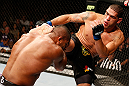 LAS VEGAS, NV - FEBRUARY 02:  (R-L) Antonio Silva kicks Alistair Overeem during their heavyweight fight at UFC 156 on February 2, 2013 at the Mandalay Bay Events Center in Las Vegas, Nevada.  (Photo by Josh Hedges/Zuffa LLC/Zuffa LLC via Getty Images) *** Local Caption *** Alistair Overeem; Antonio Silva