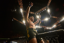 LAS VEGAS, NV - FEBRUARY 02:  Antonio Silva reacts to his knockout victory over Alistair Overeem after their heavyweight fight at UFC 156 on February 2, 2013 at the Mandalay Bay Events Center in Las Vegas, Nevada.  (Photo by Donald Miralle/Zuffa LLC/Zuffa LLC via Getty Images) *** Local Caption *** Alistair Overeem; Antonio Silva