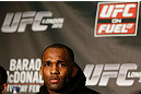LONDON, ENGLAND - FEBRUARY 13:  Jimi Manuwa interacts with media during a UFC press conference on February 13, 2013 at Hooks Gym in London, England.  (Photo by Josh Hedges/Zuffa LLC/Zuffa LLC via Getty Images)