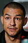 LONDON, ENGLAND - FEBRUARY 13:  Cub Swanson interacts with media during a UFC press conference on February 13, 2013 at Hooks Gym in London, England.  (Photo by Josh Hedges/Zuffa LLC/Zuffa LLC via Getty Images)