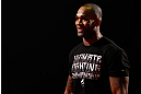 LONDON, ENGLAND - FEBRUARY 13:  Jimi Manuwa conducts an open training session for media on February 13, 2013 at Hooks Gym in London, England.  (Photo by Josh Hedges/Zuffa LLC/Zuffa LLC via Getty Images)