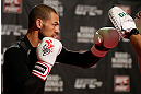 LONDON, ENGLAND - FEBRUARY 13:  Cub Swanson conducts an open training session for media on February 13, 2013 at Hooks Gym in London, England.  (Photo by Josh Hedges/Zuffa LLC/Zuffa LLC via Getty Images)