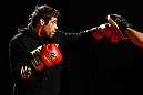 LONDON, ENGLAND - FEBRUARY 13:  Renan Barao conducts an open training session for media on February 13, 2013 at Hooks Gym in London, England.  (Photo by Josh Hedges/Zuffa LLC/Zuffa LLC via Getty Images)