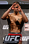 LONDON, ENGLAND - FEBRUARY 15:  Vaughan Lee weighs in during the UFC weigh-in on February 15, 2013 at Wembley Arena in London, England.  (Photo by Josh Hedges/Zuffa LLC/Zuffa LLC via Getty Images)