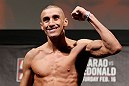 LONDON, ENGLAND - FEBRUARY 15:  Terry Etim weighs in during the UFC weigh-in on February 15, 2013 at Wembley Arena in London, England.  (Photo by Josh Hedges/Zuffa LLC/Zuffa LLC via Getty Images)