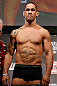 LONDON, ENGLAND - FEBRUARY 15:  James Te Huna weighs in during the UFC weigh-in on February 15, 2013 at Wembley Arena in London, England.  (Photo by Josh Hedges/Zuffa LLC/Zuffa LLC via Getty Images)