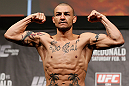 LONDON, ENGLAND - FEBRUARY 15:  Cub Swanson weighs in during the UFC weigh-in on February 15, 2013 at Wembley Arena in London, England.  (Photo by Josh Hedges/Zuffa LLC/Zuffa LLC via Getty Images)