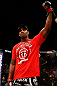 LONDON, ENGLAND - FEBRUARY 16:  Jimi Manuwa reacts after defeating Cyrille Diabate in their light heavyweight fight during the UFC on Fuel TV event on February 16, 2013 at Wembley Arena in London, England.  (Photo by Josh Hedges/Zuffa LLC/Zuffa LLC via Getty Images)