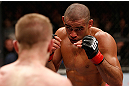 LONDON, ENGLAND - FEBRUARY 16:  (R-L) Renan Barao squares off with Michael McDonald in their interim bantamweight title fight during the UFC on Fuel TV event on February 16, 2013 at Wembley Arena in London, England.  (Photo by Josh Hedges/Zuffa LLC/Zuffa LLC via Getty Images)