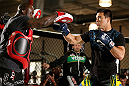 TORRANCE, CA - FEBRUARY 20:  Lyoto Machida conducts an open training session for fans and media at the UFC Gym on February 20, 2013 in Torrance, California.  (Photo by Josh Hedges/Zuffa LLC/Zuffa LLC via Getty Images)