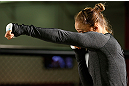 TORRANCE, CA - FEBRUARY 20:  Ronda Rousey conducts an open training session for fans and media at the UFC Gym on February 20, 2013 in Torrance, California.  (Photo by Josh Hedges/Zuffa LLC/Zuffa LLC via Getty Images)