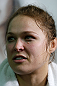 TORRANCE, CA - FEBRUARY 20:  Ronda Rousey interacts with media after an open training session at the UFC Gym on February 20, 2013 in Torrance, California.  (Photo by Josh Hedges/Zuffa LLC/Zuffa LLC via Getty Images)