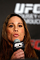 ANAHEIM, CA - FEBRUARY 21:  Liz Carmouche interacts with media during a UFC pre-fight press conference at Honda Center on February 21, 2013 in Anaheim, California.  (Photo by Josh Hedges/Zuffa LLC/Zuffa LLC via Getty Images)