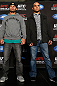 ANAHEIM, CA - FEBRUARY 21:  (L-R) Opponents Josh Koscheck and Robbie Lawler pose for photos during a UFC pre-fight press conference at Honda Center on February 21, 2013 in Anaheim, California.  (Photo by Josh Hedges/Zuffa LLC/Zuffa LLC via Getty Images)