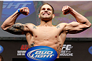 ANAHEIM, CA - FEBRUARY 22:  Brock Jardine weighs in during the UFC 157 weigh-in at Honda Center on February 22, 2013 in Anaheim, California.  (Photo by Josh Hedges/Zuffa LLC/Zuffa LLC via Getty Images)