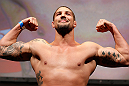 ANAHEIM, CA - FEBRUARY 22:  Brendan Schaub weighs in during the UFC 157 weigh-in at Honda Center on February 22, 2013 in Anaheim, California.  (Photo by Josh Hedges/Zuffa LLC/Zuffa LLC via Getty Images)