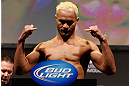 ANAHEIM, CA - FEBRUARY 22:  Josh Koscheck weighs in during the UFC 157 weigh-in at Honda Center on February 22, 2013 in Anaheim, California.  (Photo by Josh Hedges/Zuffa LLC/Zuffa LLC via Getty Images)