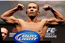 ANAHEIM, CA - FEBRUARY 22:  Ivan Menjivar weighs in during the UFC 157 weigh-in at Honda Center on February 22, 2013 in Anaheim, California.  (Photo by Josh Hedges/Zuffa LLC/Zuffa LLC via Getty Images)