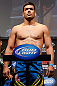 ANAHEIM, CA - FEBRUARY 22:  Lyoto Machida weighs in during the UFC 157 weigh-in at Honda Center on February 22, 2013 in Anaheim, California.  (Photo by Josh Hedges/Zuffa LLC/Zuffa LLC via Getty Images)
