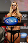 ANAHEIM, CA - FEBRUARY 22:  Ronda Rousey weighs in during the UFC 157 weigh-in at Honda Center on February 22, 2013 in Anaheim, California.  (Photo by Josh Hedges/Zuffa LLC/Zuffa LLC via Getty Images)