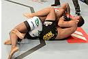 ANAHEIM, CA - FEBRUARY 23:  (R-L) Yuri Villefort attempts to submit Nah-Shon Burrell in their welterweight bout during UFC 157 at Honda Center on February 23, 2013 in Anaheim, California.  (Photo by Donald Miralle/Zuffa LLC/Zuffa LLC via Getty Images) *** Local Caption *** Nah-Shon Burrell; Yuri Villefort