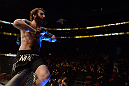 ANAHEIM, CA - FEBRUARY 23:  Michael Chiesa reacts to his victory over Anton Kuivanen in their lightweight bout during UFC 157 at Honda Center on February 23, 2013 in Anaheim, California.  (Photo by Donald Miralle/Zuffa LLC/Zuffa LLC via Getty Images) *** Local Caption *** Michael Chiesa; Anton Kuivanen