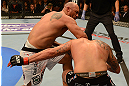 ANAHEIM, CA - FEBRUARY 23:  (L-R) Lavar Johnson punches Brendan Schaub in their heavyweight bout during UFC 157 at Honda Center on February 23, 2013 in Anaheim, California.  (Photo by Donald Miralle/Zuffa LLC/Zuffa LLC via Getty Images) *** Local Caption *** Brendan Schaub; Lavar Johnson