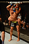 ANAHEIM, CA - FEBRUARY 23:  Urijah Faber (white shorts) attempts to submit Ivan Menjivar in their bantamweight bout during UFC 157 at Honda Center on February 23, 2013 in Anaheim, California.  (Photo by Donald Miralle/Zuffa LLC/Zuffa LLC via Getty Images) *** Local Caption *** Urijah Faber; Ivan Menjivar